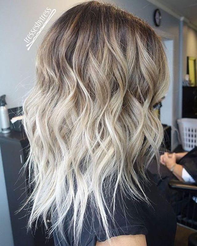 Blonde ombré hair color #haircolor #blondebalayage