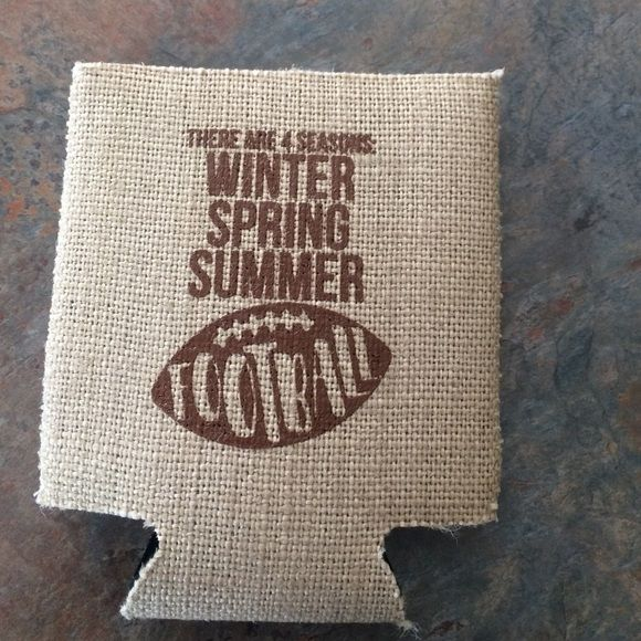 Football saying koozie Marley Lilly football saying koozie. Never been used. Accessories