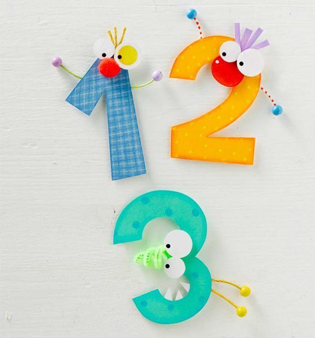 Buchstaben-Tiere und bunte Zahlen