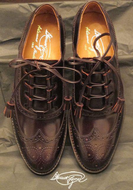 Modello Porto - 40 EU - Cuero Italiano Hecho A Mano Hombre Piel Marrón Zapatos Vestir Oxfords - Cuero Cuero Pintado a Mano - Encaje ccxNEf