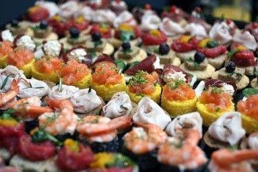 Cena a buffet: presentazione