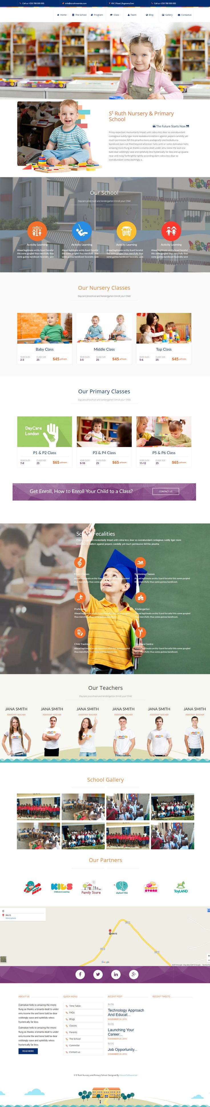 Nursery and Primary School , Website Designed By occurasoftware.com