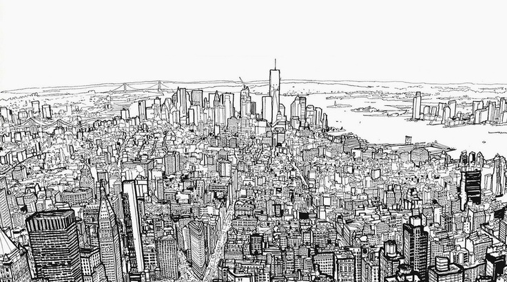 Watch This Guy Draw All Of Downtown NYC In 80 Seconds