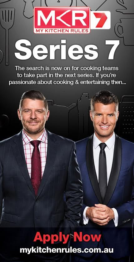 Apply now for My Kitchen Rules Series 7. If you have a love of food, a passion for entertaining and an appetite for adventure, My Kitchen Rules wants YOU. Teams of two will be selected to take part in the next series. MKR will be holding open auditions Saturday 2 May 10am-12pm at Lenna of #Hobart (Harriet Room) 20 Runnymede Street, Battery Point. Bring your teammate and be ready to impress. If you can't make it #Hobart go to www.mykitchenrules.com.au and apply now! #Foodie #MKR #Tasmania