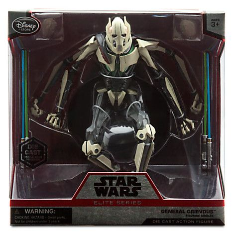 GENERAL GRIEVOUS Elite Series Die Cast Action Figure (First version, painted light sabers) - 7 1/4'' (16,5 cm ) - Star Wars: The Force awakens - 2015 - Disneystore exclusive