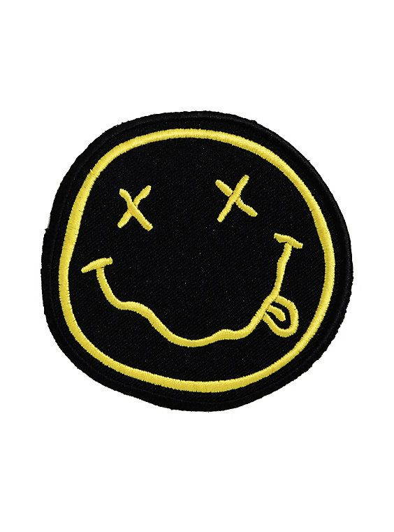 Nirvana Smiley Logo Iron-On Patch,