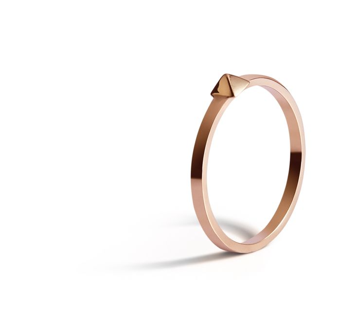 Pyramid Ring in 18K Rose Gold.