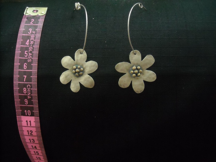 handmade flower earring