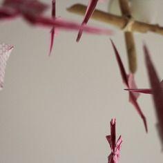 Joli mobile origami pour bébé