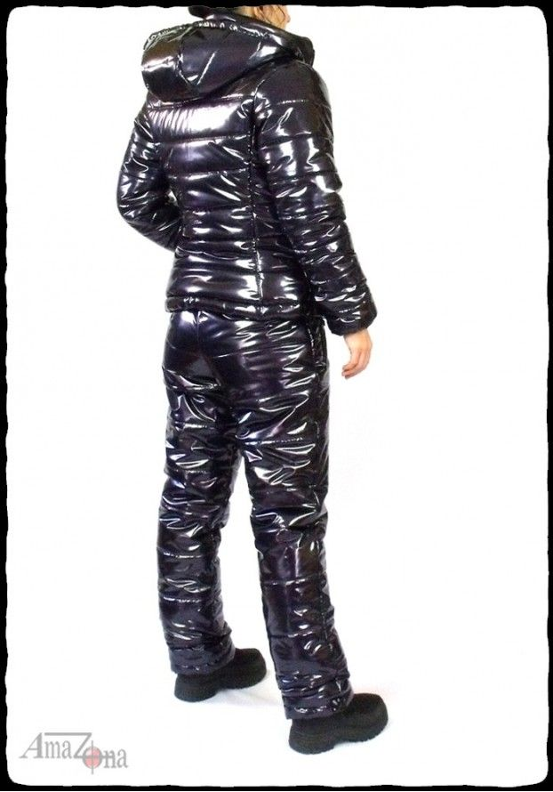 Montessa shiny vinyl puffy suit