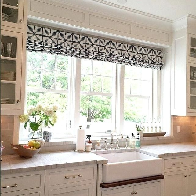 Large Kitchen Window Incredible Window Treatments For Large