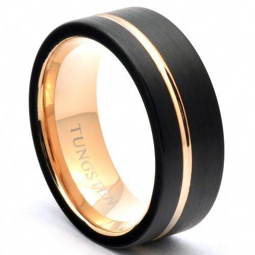 Beautiful Jewelry Trends Black Tungsten Rings Mens Wedding Rings Tungsten Wedding Bands