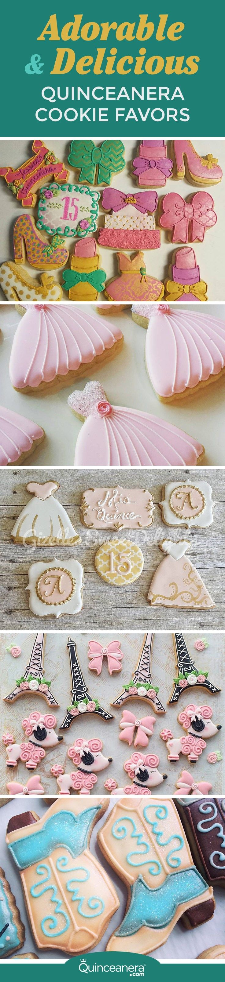 Wow your guests the moment they sink their teeth into your quinceanera cookie favors! - See more at: http://www.quinceanera.com/food/quinceanera-cookie-favors/#sthash.3gCoXrYm.dpuf