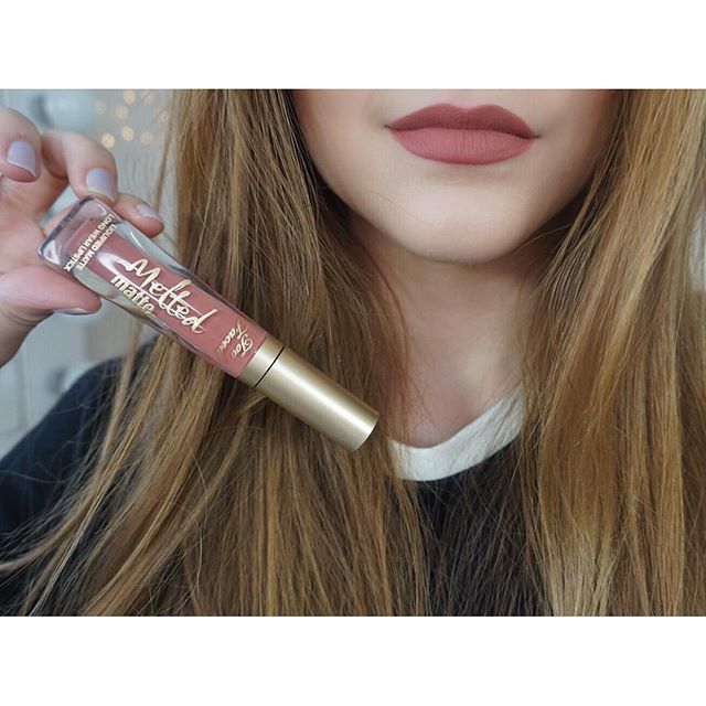 Loving @kathleenlights in our NEW Melted Matte Lipstick in shade Sell Out! #getmelted #toofaced