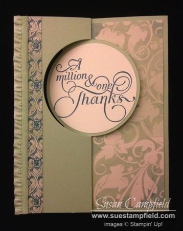 Venetian Romance Thanks Circle Card Thinlit by suestampfield - Cards and Paper Crafts at Splitcoaststampers