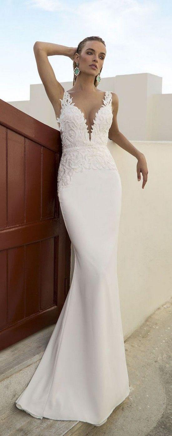 25 best White beach wedding dresses ideas on Pinterest Simple
