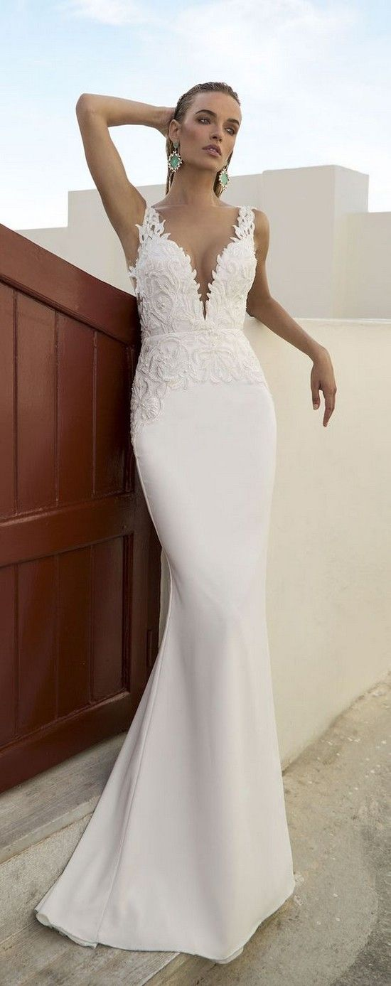 1000 Ideas About White Beach Wedding Dresses On Pinterest