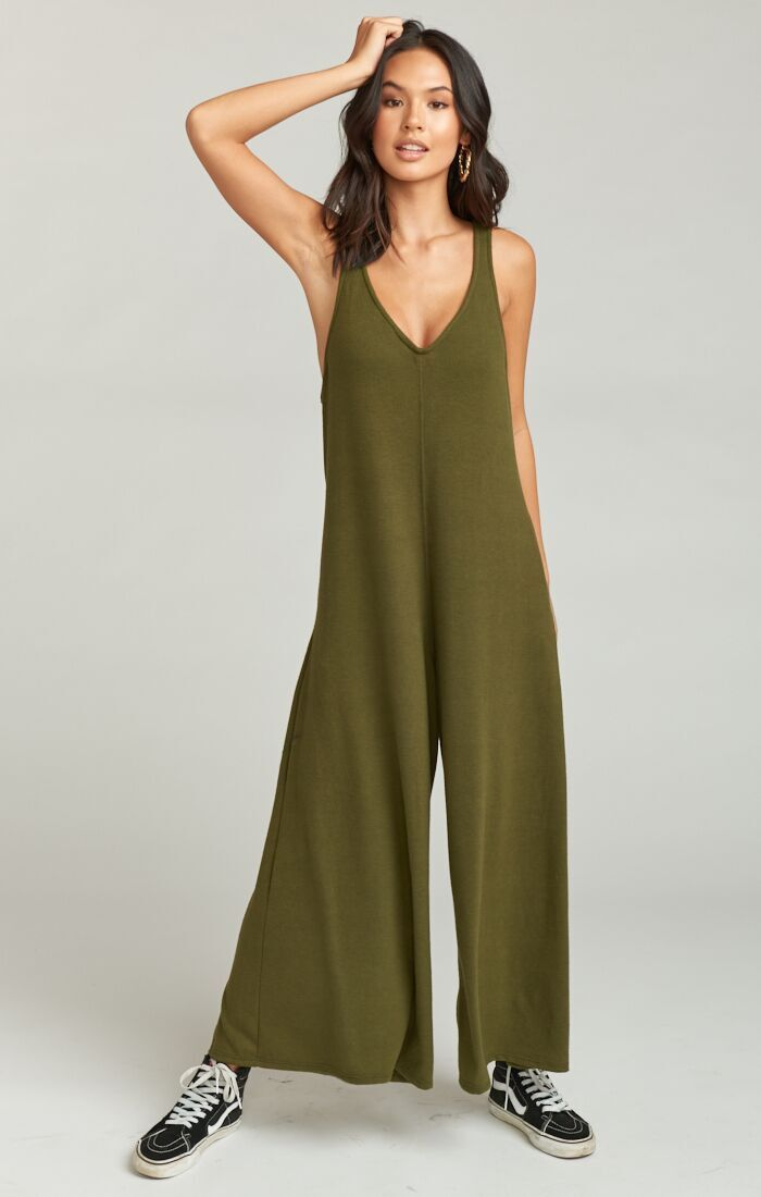 9aaf4349d4b8 Bowery Jumpsuit ~ Olive Brushed Hacci in 2019