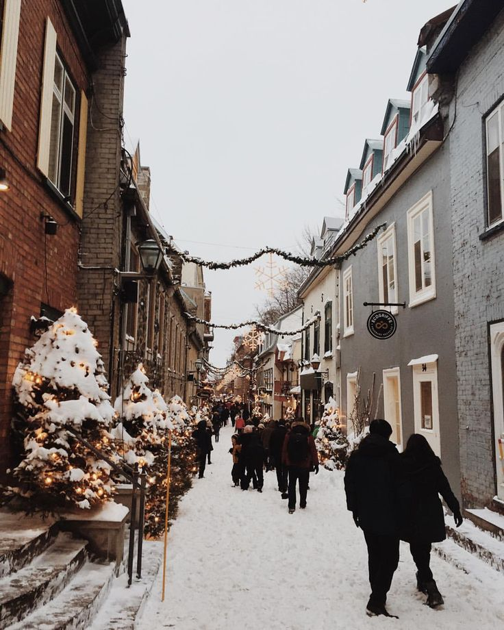 snow drifted, iceskating, creperie, jazz bar discovered down a little stone alley kind of town