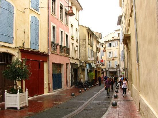 atmospheric old town of Carpentras (where mathematician Alexander Grothendieck retired)