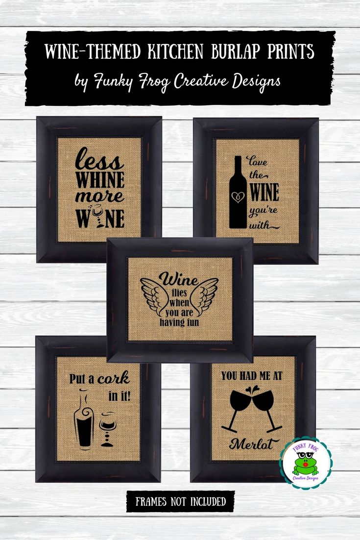 These Burlap Signs, From Funky Frog Creative Designs, Make A Great Addition  To Any Kitchen Decor.
