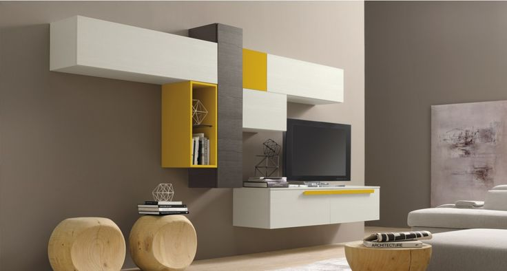 1000 ideas about modern tv units on pinterest media for Bibliotheque meuble moderne