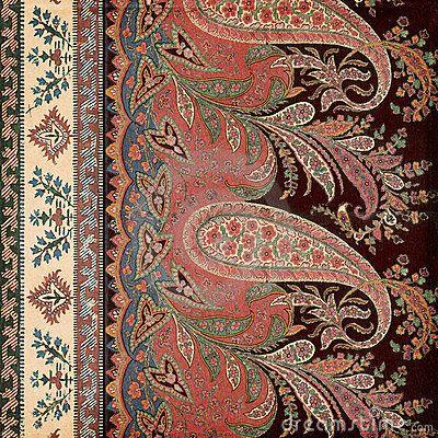Antique Vintage paisley indian background by Jodielee, via Dreamstime