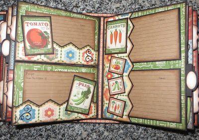 Moshie's Moments: Graphic 45 mini album cook (recipe) book Home Sweet Home