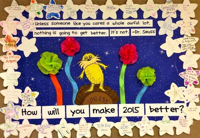 """Unless..."" New Years Resolution Bulletin Board Idea"