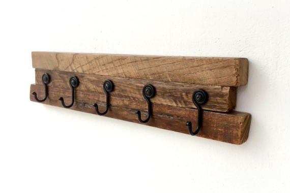 Coat rack Wall mounted hanger Towel rack Entryway decor by BatLab