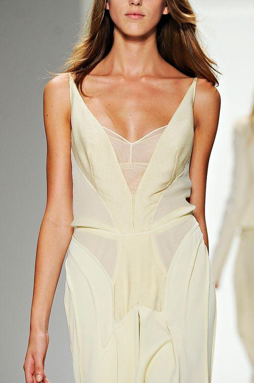 Calvin Klein Spring 2012: Small Jumps, Calvin Klein White Gowns, New Fashion, New York Fashion, The Dresses, My Styles, Chiffon Dresses, Spring 2012, Modern Weddings Dresses