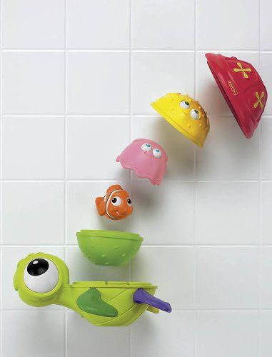 Amazon.com : Fisher-Price Disney Baby NEMO Nesting Bath Pals Amazing Animals : Bathtub Toys : Toys & Games - too cute finding Nemo babushka for in the tub!