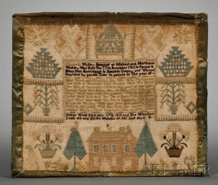 Susquehanna Valley Needlework Sampler, Harrisburg, Pennsylvania, late 18th/early 19th century