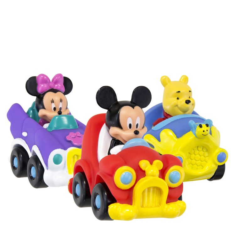 What's that?  Mickey & Friends are on-the-go with these new Roll Along Vehicles.  Keep on the lookout…these fun friends will be rolling into stores in July!