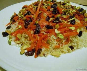 Qabali Pilau : Afghaanse rijst met wortel en rozijn.