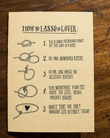 How to Lasso a Lover Cards: Photo by Paper Antler via Style Me Pretty