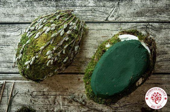easter moss eggs diy
