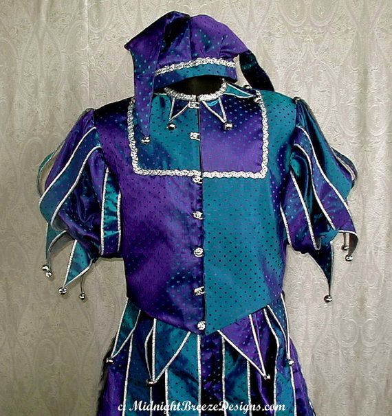 Custom Jester Costume 50 deposit by midnightbreezedesign on Etsy