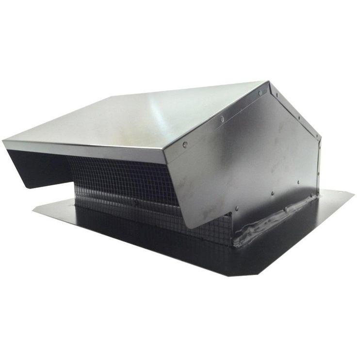 BUILDERS BEST 012634 Black Metal Roof Vent Cap (6-8 (3 1-4 x 10) Universal Flush)