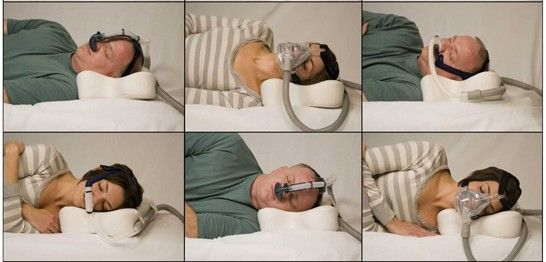 sleep apnea pillow positions