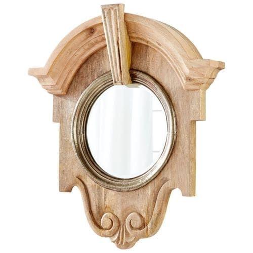Cyan Design Mahogany (Brown) Mirror 34.25 x 29.75 Mahogany Specialty Wood Frame Mirror Made in India