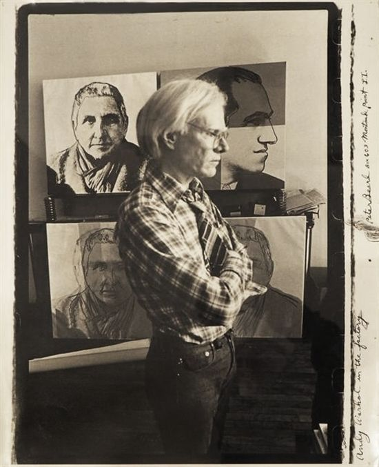 Andy Warhol at the Factory by Peter Beard