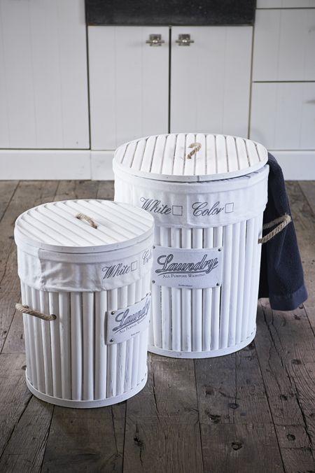 Rivièra Maison Webstore - accessoires | Opbergartikelen | Wasmanden | USA Laundry Basket Round S/2
