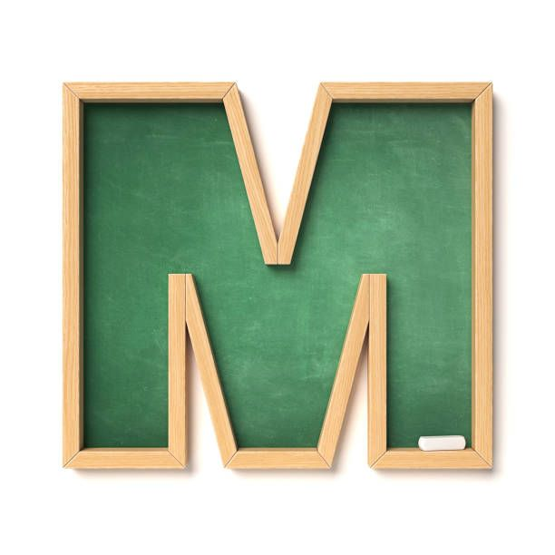 Buchstabe Letter M Monogram Alphabet School Scrapbook Decorative Letters