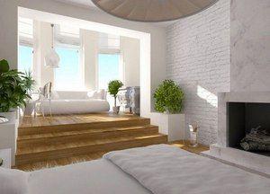Дизайн спальни с балконом: интерьер совмещенного с лоджией, фото