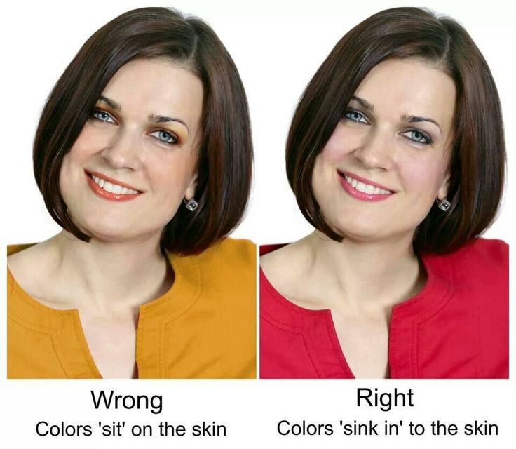 Right colors make you look your best. Wrong colors accentuate blemishes and flaws.