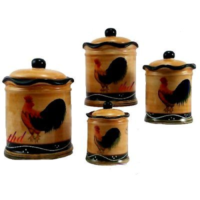 decorative canister sets kitchen 25 best images about rooster and hen home decorations on 17162