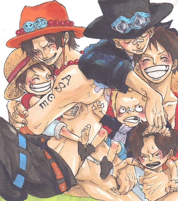 Portgas D. Ace, Monkey D. Luffy and Sabo #asl #one piece
