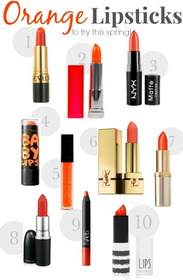 The last couple Mondays we've chatted about lipstick colors to wear. We talked about the perfect red lipstick and how to get it. Then we talked about rocking a pink lipstick because it's absolutely perfect for spring. And then I thought it would be perfect to add orange to that list! Wait - stop!