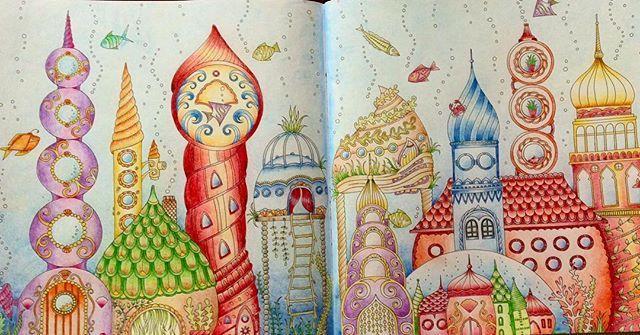 Happy to finish this one! #lostocean #havenshemligheter #målamedbonnierfakta #arttherapy #bildterapi #underthesea #colorful #målarbok #målarböckerförvuxna #coloringbook #coloringbookforadults #happy #färgpennor #fabercastell #polychromos #colormehappy #mindfulness #johannabasford